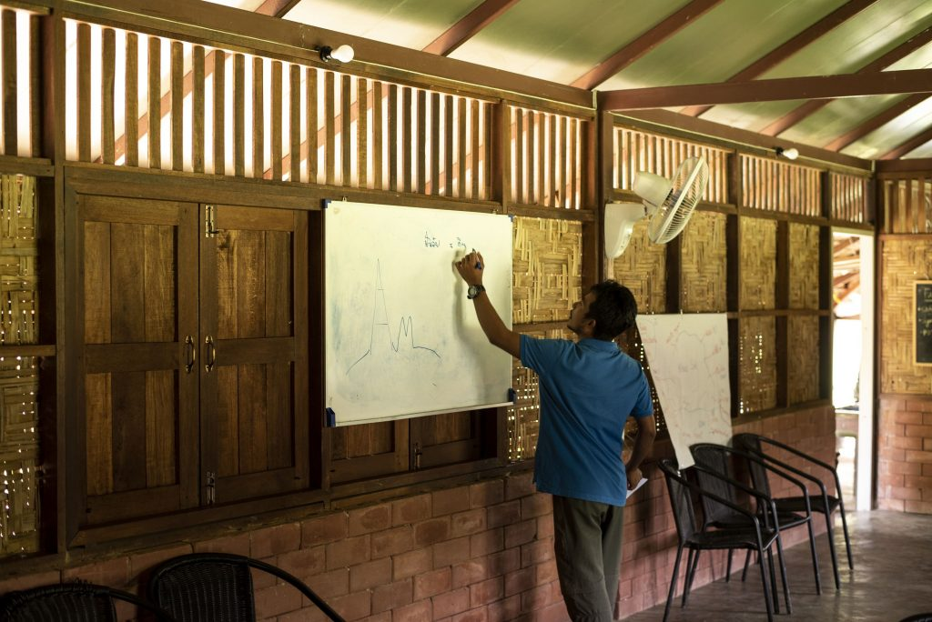 Guide writing on a whiteboard
